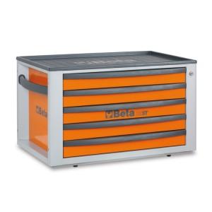 Портативный ящик для инструментов с пятью выдвижными ящиками
