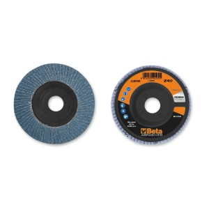 шлифовальные диски, циркониевый абразив, пластмассовая диск-подошва, одностороннее исполнение