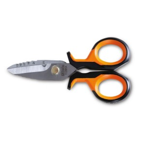 ножницы электрика  с градуированным профилем, с чехлом