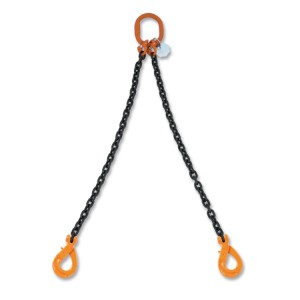 Стропы цепные, двухветвевые, самозамыкающийся цепной крюк, класс 8