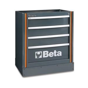 Стационарный модуль с четырьмя выдвижными ящиками к набору оборудования для мастерских