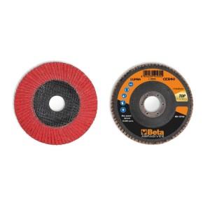 Discos laminados com tela abrasiva cerâmica suporte em fibra de vidro e lâmina simples
