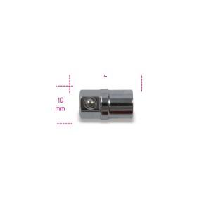 """Adaptador quadra 1/4"""", para chaves catraca de 10 mm"""