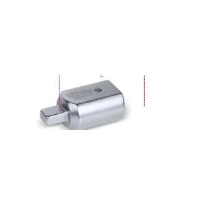 Adaptador com unidades retangulares fêmea (14x18 mm) e macho (9x12 mm)