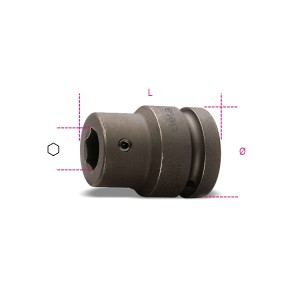 """Soquete porta-bits de impacto de 22mm, quadra de 1"""""""