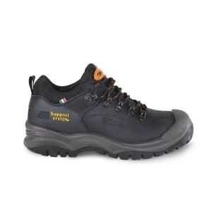 Sapato em nobuck, impermeável, com SISTEMA DE SUPORTE para apoio lateral do tornozelo