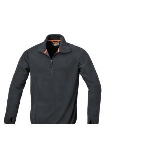 Sueter, pequeno zipper, 180 g/m2 preto