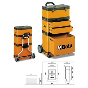Carro para ferramentas tipo trolley com 3 módulos