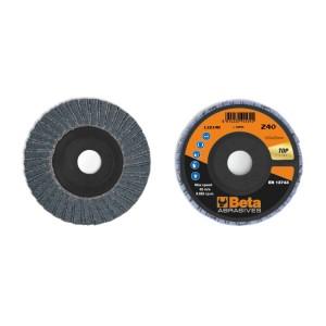 Discos lamelados com tela abrasiva de zircónia suporte em plástico e lâmina dupla
