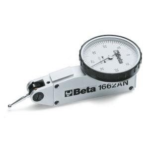 Relógio comparador analógico com ponteira ajustável, leitura: 0,01 mm