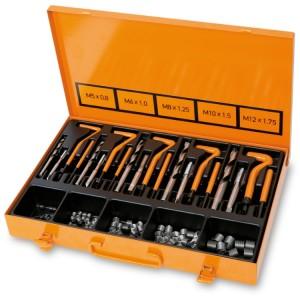 Kit para reparação de roscas danificadas  M5-M6-M8-M10-M12