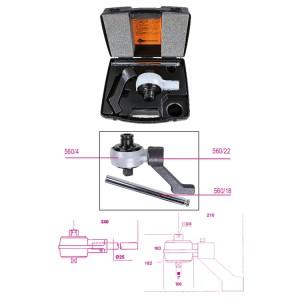 Multiplicador de torque para aperto à direita e à esquerda e acessórios, relação 5:1, com 2 braços de reação