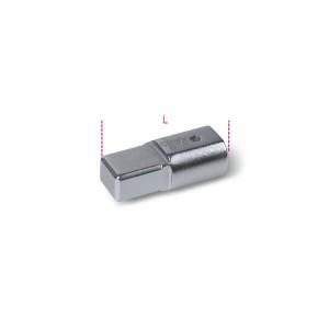 Adaptador com unidades retangulares fêmea (9x12 mm) e macho (14x18 mm)