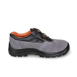 Sapato de camurça, perfurado