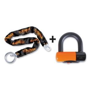 Cadeado de disco com corrente anti-roubo 8130A