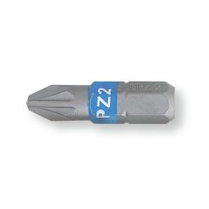 "Bits para parafusos perfil Pozidriv® - Supradriv®, coloridos, encaixe de 1/4"""
