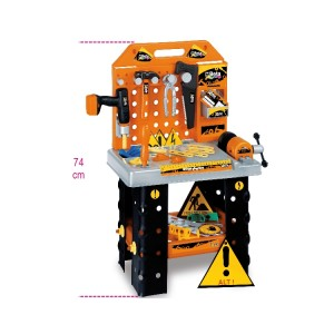 """Bancada de trabalho com ferramenta  """"Kinder Work Station"""",  para crianças +3 anos"""