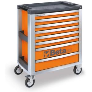 Carro para ferramentas em alumínio com 8 gavetas