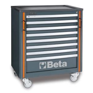Carro de ferramentas com oito gavetas, para combinação de móveis de oficina