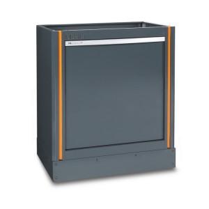 Módulo fixo de coleta seletiva de resíduos para a combinação de móveis de oficina