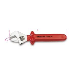 Einmaulschlüssel, verstellbar,  mit Maßskala
