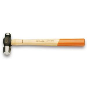 Hämmer für Blechbearbeitung,  amerikanisches Modell mit rundem Kopf und kugelförmiger Pinne, Stiel aus Holz