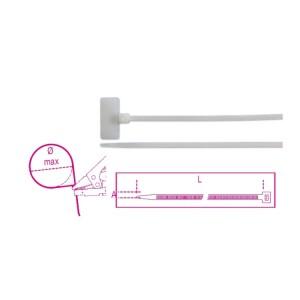 Nylonkabelbinder mit Außenschild 20x9mm, Naturfarbe