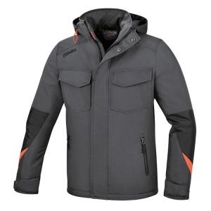 Jacke aus wasserdichtem Polyester Oxford 300D, PU-Beschichtung, grau