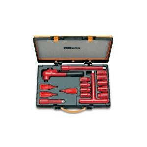 9 Sechskant-Steckschlüssel 3 Sechskant-Steckschlüssel mit Außenvierkant und 4 Betätigungswerkzeuge
