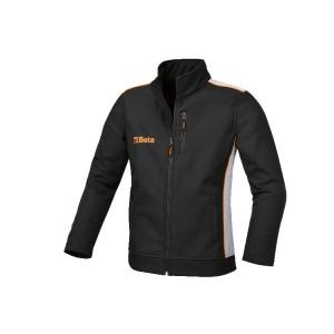 Softshell-Jacke aus 100% Polyester, 320 g/m2, 3-schichtig, Außenschale aus Mikrofaser, wasserabweisende und atmungsaktive Zwischenmembran, Innenteil aus Fleece
