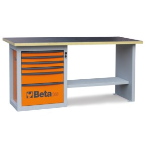 """Werkbank """"Endurance"""" mit 1 Schubladenblock aus sechs Schubladen"""
