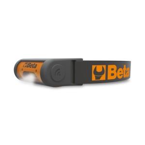 Wiederaufladbare, LED Kopfleuchte, 2 Helligkeitsstufen, mit berührungslosem Ein-/Aus-Sensor