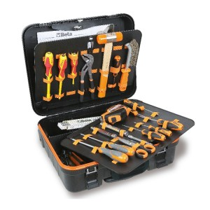 Werkzeugsortimente für Elektroniker und Elektrotechniker,  im Werkzeugtrolley