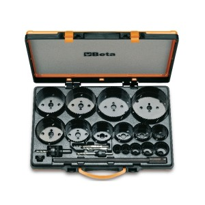 Sortiment mit HSS/Bimetall-Lochsägen  und Zubehör, für industriellen  Gebrauch