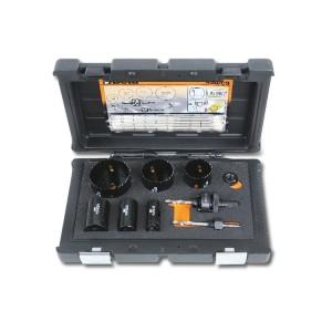 Sortiment mit HSS/Bimetall-Lochsägen  und Zubehör, für Elektriker