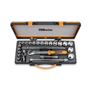 20 Steckschlüssel  und 5 Betätigungswerkzeuge