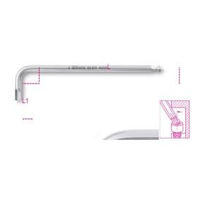 Sechskant-Stiftschlüsselsatz, gebogen, mit kugelförmigem Kopf, aus Edelstahl