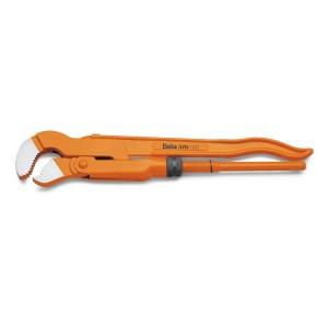 Klíče na trubky,  švédský model, 45° štíhlé čelisti