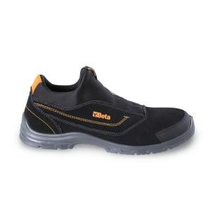 Bezpečnostní boty z nubuku, s vložkou na špici proti opotřebení