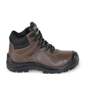 Kotníkové voděodolné boty z kůže Nubuk s ochranou špice z polyuretanu a rychlootevíracím systémem