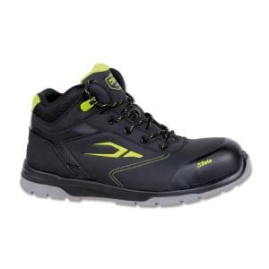 Kotníkové boty z kůže nubuk odpuzující vodu s rychlootevíracím systémem a zesílením proti otěru v oblasti špičky