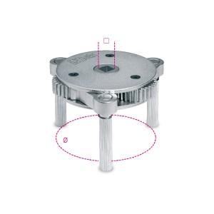 Samonastavovací klíč na olejový filtr s 3 rameny,  pro pravotočivé a levotočivé utahování