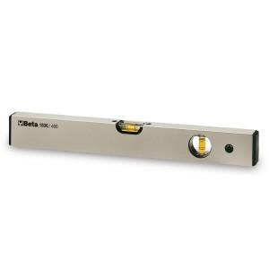 Vodováhy vyrobené z eloxovaného profilového hliníku, s 2 nerozbitnými nádobkami,  přesnost: 1 mm/m