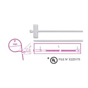 Stahovací nylonové pásky se štítkem, 25x8mm, transparentní