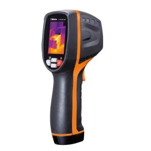Infračervená kompaktní termokamera  pro bezkontaktní měření teploty, vhodná pro použití ve stavebnictví, strojírenství, elektroinstalaci a topení