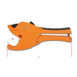 Nůžky řehtačkového typu na plastové trubky s tělesem z hořčíkové slitiny
