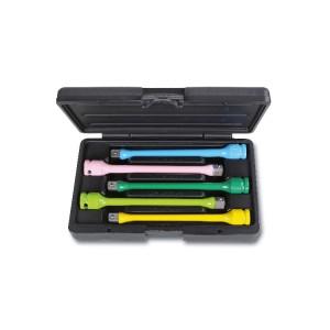 Set 5 barevných rázových nástrčných klíčů pro kolové matice, v setu