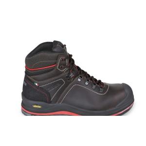 Kotníkové boty z mazané usně s přírodním lícem, vodoodpudivé, s vysoce kvalitní úpravou kůže VIBRAM® , vložka proti otěru v oblasti paty  a polyuretanové vyztužení ve špičce boty