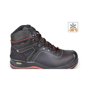 Kotníkové boty z mazané usně s přírodním lícem, vodoodpudivé, s vysoce kvalitní úpravou kůže VIBRAM® , vložka proti otěru v oblasti paty a polyuretanové vyztužení ve špičce boty S membránou