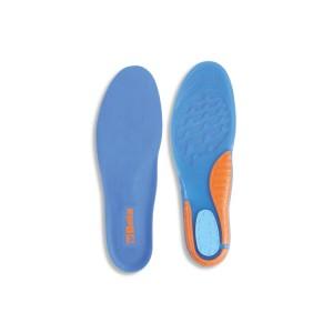 Gelové TPR vložky do bot s amortizačními vlastnostmi, anatomicky profilované,  s podporou oblouku a amortizační vložkou v zadní části